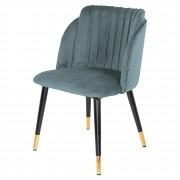 Chaise contemporaine en acier et bois - Chaise de style contemporain avec structure en acier et en bois