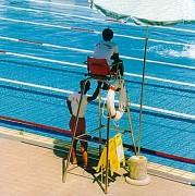 Chaise de surveillance piscine tubulaire