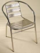 Chaise de terrasse aluminium - Dimensions (lxpxh) en cm : 53x57x72