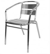 Chaise de terrasse en aluminium - Structureet lattes en aluminium