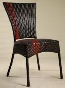 Chaise de terrasse tressé - Dimensions (lxpxh) en cm : 42x43x86