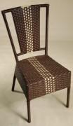 Chaise de terrasse tressé pour café - Dimensions (pxh) en cm : 45x88