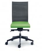Chaise dossier haut - Composition :  100 % polyester - Piétement injecté en nylon noir