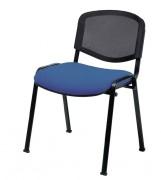 Chaise empilable à dossier résille - Hauteur (mm) : 830