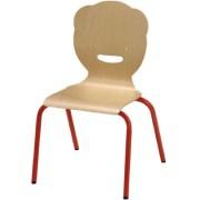 Chaise empilable à piétements cintrés - Dimensions (LxPxH) mm : de (356x315x445) à (445x450x730)