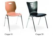 Chaise empilable accrochable - 2 Modèles : Empilable ou Empilable et accrochable