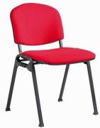 Chaise empilable assise et dossier garnis - Dimensions  (L  x P x H) : 560 x 615 x 800 mm