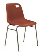 Chaise empilable de bureau - Hauteur d'assise (cm) : 45