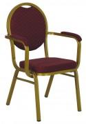 Chaise empilable de conférence - Aluminium doré - Empilable