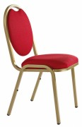 Chaise empilable / empilable et accrochable - Assise et dossier garnis