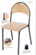 Chaise empilable en contreplaqué de hêtre - Taille 2 à 6