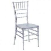 Chaise empilable en polycarbonate - Taille coussin (cm) : 42x42x92