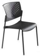 Chaise empilable en polypropylène noire