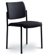 Chaise empilable pour conférence - Composition 100 % polyester - Assise et dossier capitonnés intégralement