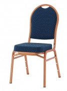 Chaise empilable pour salle de conférence - Dossier/ assise : tissu - Empilable