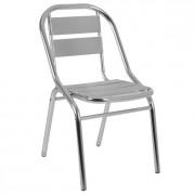 Chaise en aluminium pour terrasse - Dimensions : L46 x P54 x H 79.5 cm