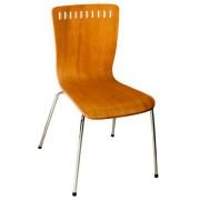 Chaise en bois contreplaqué pour caféteria - Chaise en bois contreplaqué
