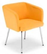 Chaise en bois pieds alu - Plateau mélamine diamètre 60 cm