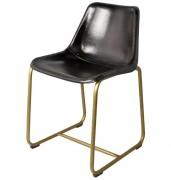 Chaise en cuir au style industriel - Dimensions : 44 x 41 x 79 cm