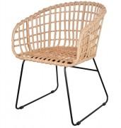Chaise en rotin artificiel - Dimensions : 59 x 60 x 81 cm