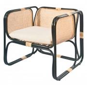 Chaise en rotin avec coussin - Chaise pour restaurant en rotin naturel avec coussin