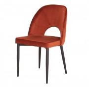 Chaise en velours - Chaise de style contemporain en velours