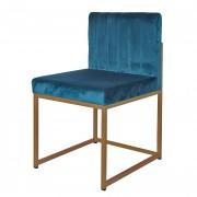 Chaise en velours - Chaise en velours syle mid-century