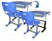 Chaise et bureau scolaire multimédia - Chaise va de T4 à T6 - Table va de T2 à T6