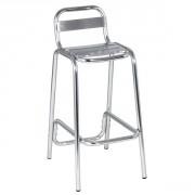Chaise haute aluminium - Chaise haute 4 lattes