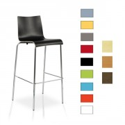 Chaise haute de bar en bois - Hauteur d'assise : 70,50 cm