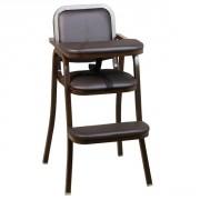 Chaise haute de restaurant pour bébé - Dimensions : H. 89.50 x L. 46.50 x P. 62 cm