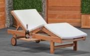 Chaise longue bain de soleil en châssis - Largeur : 70 cm  - Profondeur : 205 cm