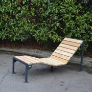Chaise longue bois - Assise composée de 18 lattes