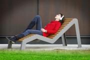 Chaise longue bois composite - Recyclable - imputrescible - facile d'entretien
