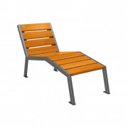 Chaise longue urbaine