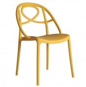 Chaise médaillon en plastique transparent - Pour collectivités