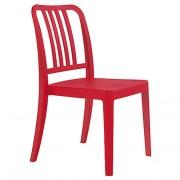 Chaise monobloc en polypropylène - Hauteur : 87 cm - Profondeur : 52 cm