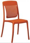Chaise monobloc plastique - Hauteur : 88 cm - Profondeur : 55 cm
