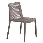 Chaise monobloc polypropylène - Hauteur : 82 cm - Largeur d'assise : 54 cm