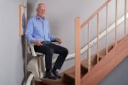 Chaise monte escalier courbe - Équipé de plusieurs capteurs de sécurité