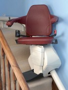 Chaise monte escalier courbe monorail - Pivotement manuel ou motorisé
