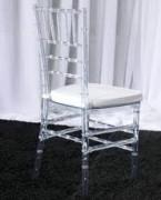 Chaise napoléon en polycarbonate - Taille coussin (cm): 42 x 42 x 92