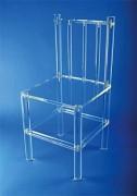 Chaise plexi à barreaux - Chaise plexi à barreaux