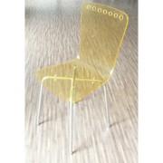 Chaise pliante cafétéria - Assise et dossier en polycarbonate