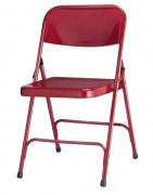 Chaise pliante pour évènements - Matière :Tissu ou vinyl - Diamètre ossature (mm) : 22