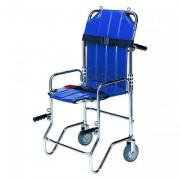 Chaise portoir pliable 4 roues - Coloris: Bleu / vert / rouge