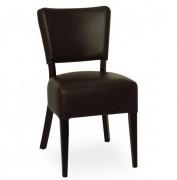 Chaise pour restaurant en bois - Structure bois - Dossier/ assise : simili cuir