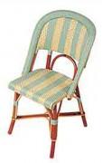 Chaise pour terrasses de bistrot - Matériaux de construction : Rilsan et Rotin