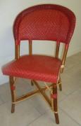 Chaise pour trottoirs bistrot - Matériaux de construction : Rilsan et Rotin