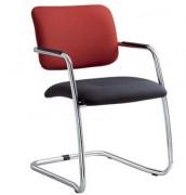 Chaise pour visiteur avec structure chromée - Composition 100 % polyester -  Structure chromée
